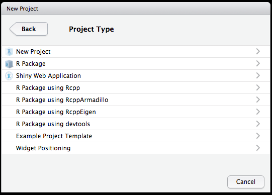 Rstudio project templates for Resource directory template